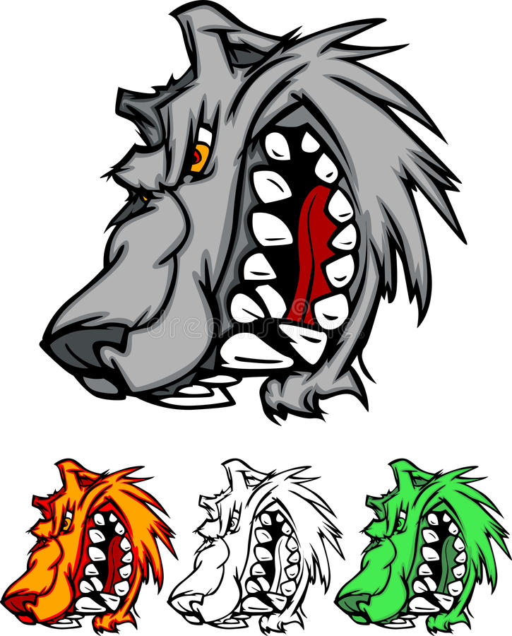 Wolf Mascot Vector Logo stock illustration