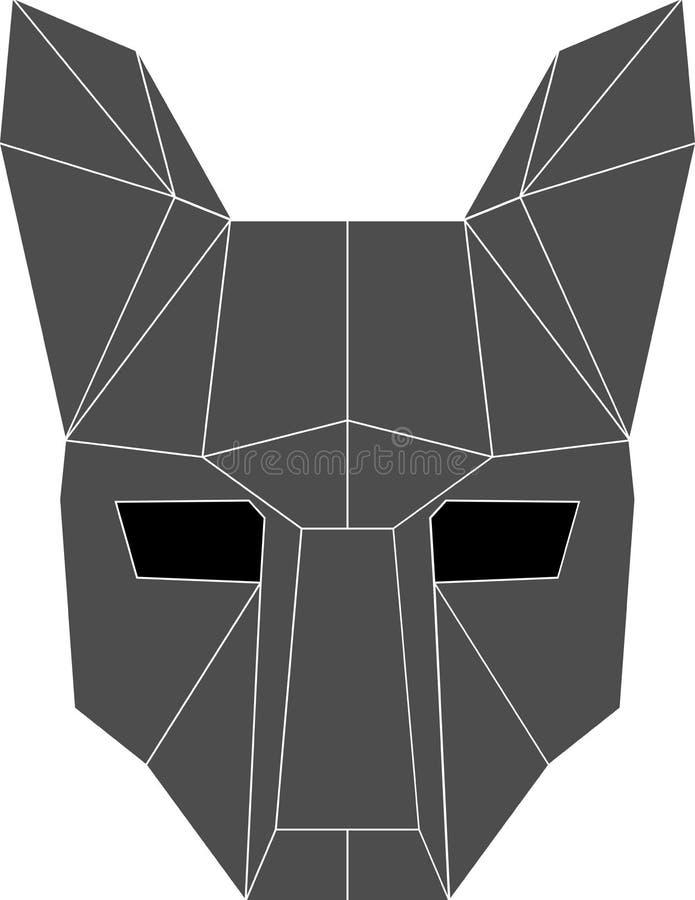 Wolf mask royalty free illustration