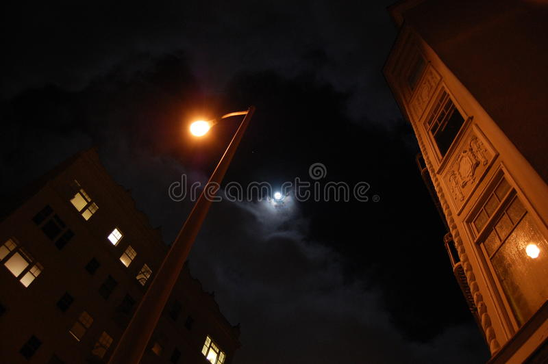 Wolf-Mond San Francisco stockfoto