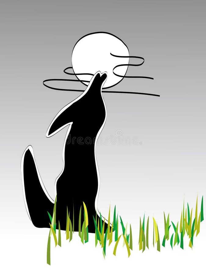 Download Wolf and moon stock vector. Image of hunting, animal, predator - 6783538