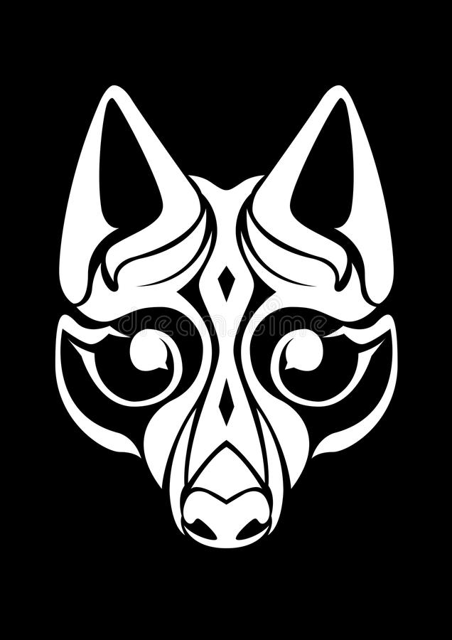Wolf Mural Head stock images