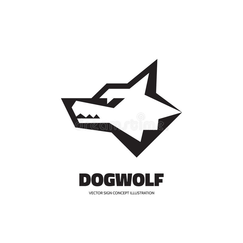 Free Wolf Or Dog Head - Vector Logo Template Concept Illustration. Wilde Animal Graphic Sign. Design Element Stock Photos - 82998043