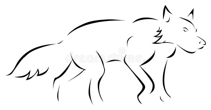 Download Wolf outline stock vector. Illustration of stalking, animal - 18078878