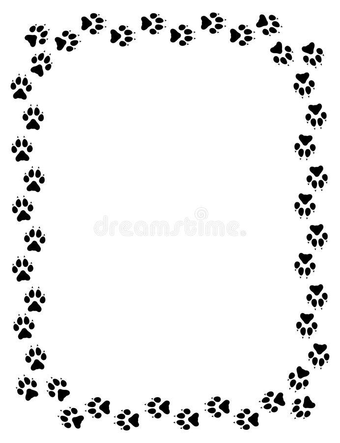Free Wolf Paw Print Border Royalty Free Stock Photo - 4386365