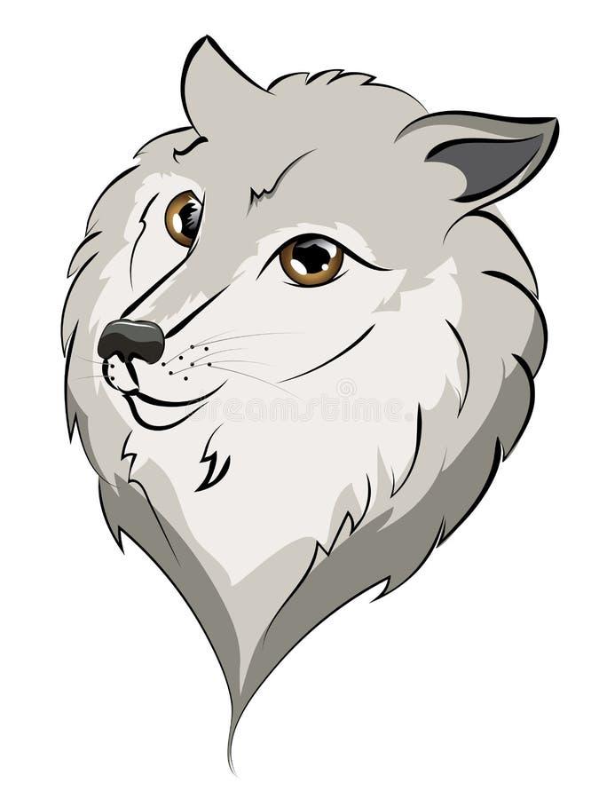 Wolf Portrait lindo ilustración del vector