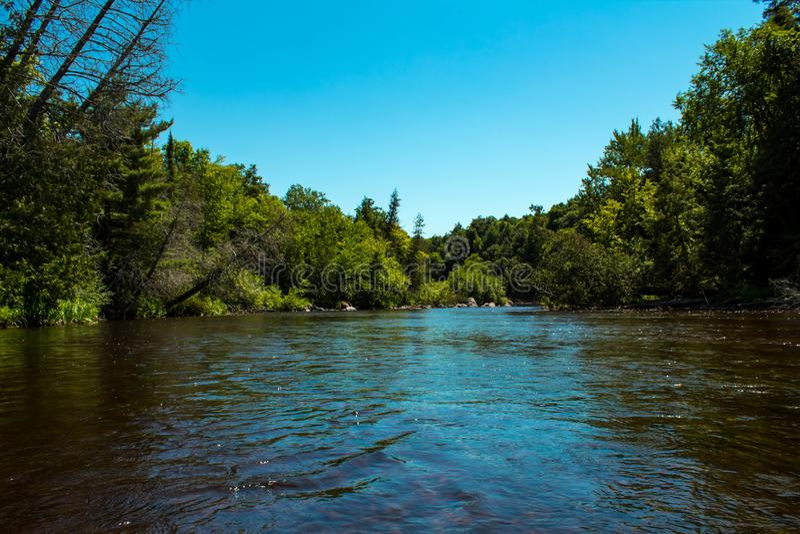 Wolf River Wisconsin royaltyfria foton