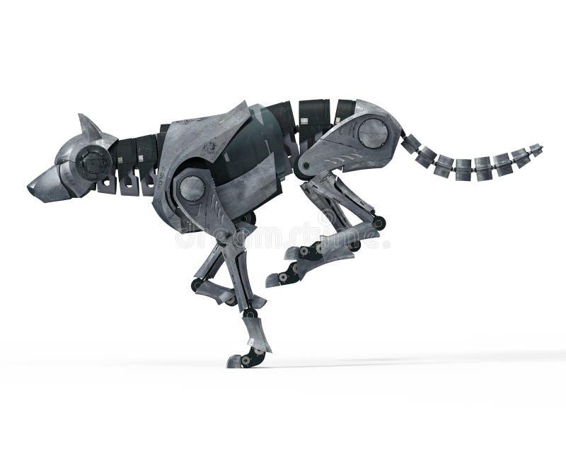 Wolf Robot de corrida ilustração stock