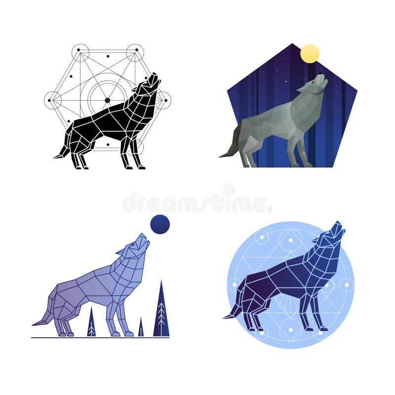 Wolf Set d'urlo illustrazione di stock