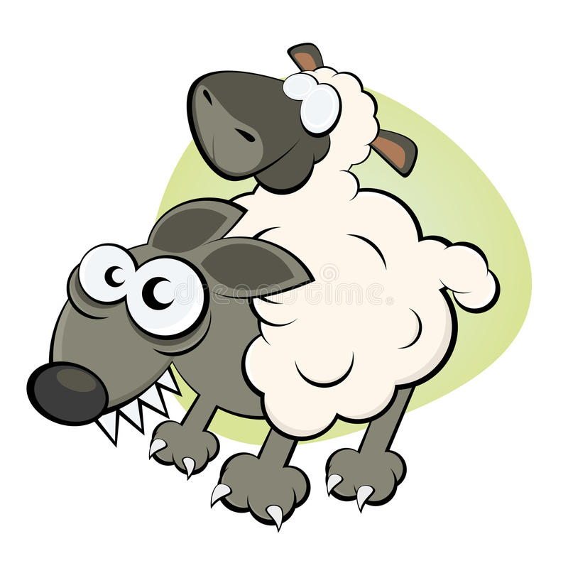 Download Wolf in sheep's clothing stock vector. Image of drawing - 24290699