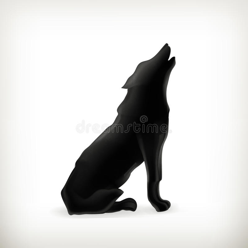 Wolf silhouette royalty free illustration