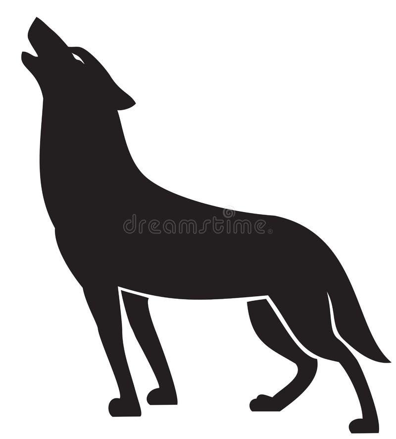 Wolf Silhouette de urro ilustração stock