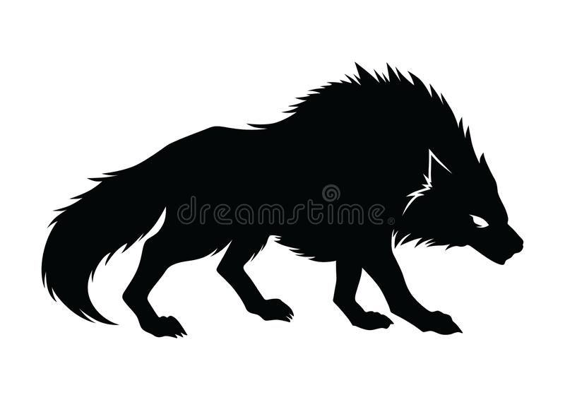 Wolf Silhouette Vector arkivbild
