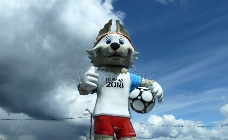 Wolf Soccer World Cup photographie stock