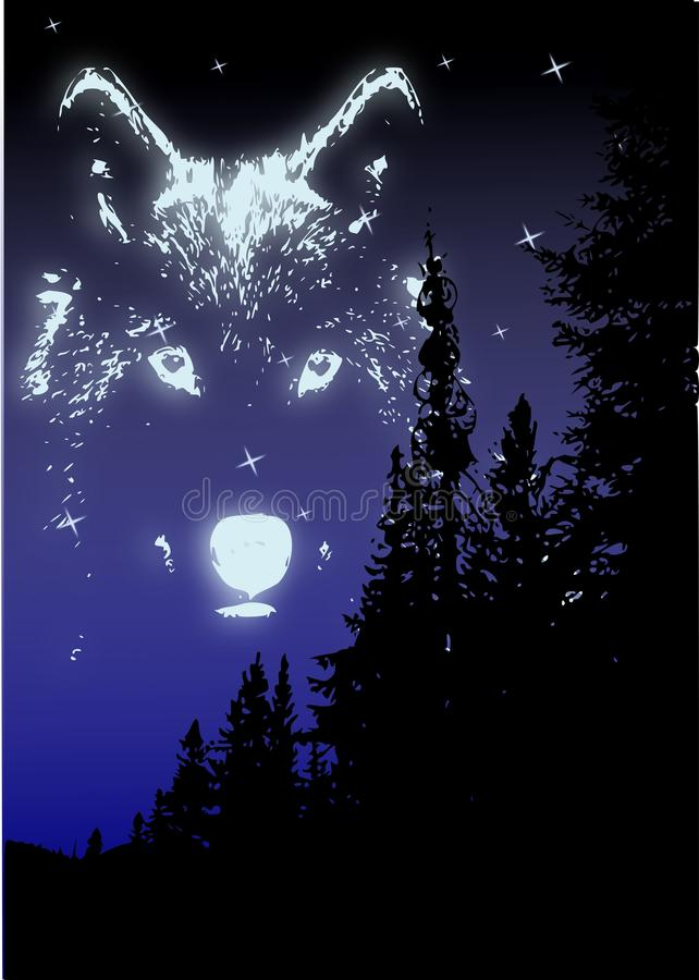 Download Wolf Spirit Royalty Free Stock Photography - Image: 9419487
