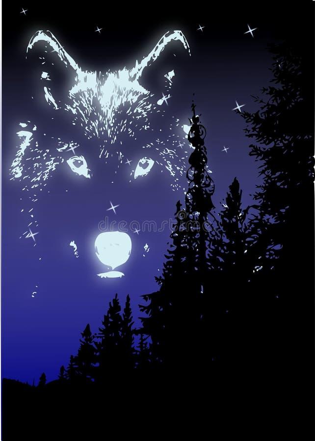 Wolf-Spiritus lizenzfreie abbildung