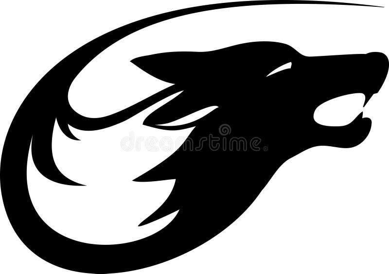 Wolf. Tribal wild wolf. Tattoo style vector stock illustration