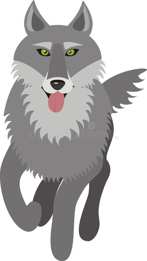 Download Wolf, vector picture stock vector. Illustration of grey - 31910344