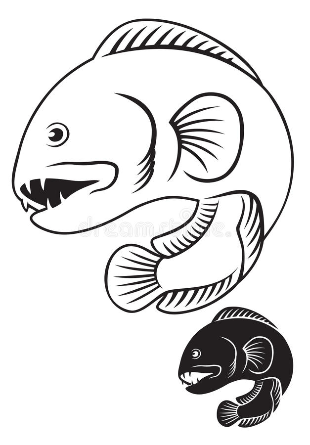 Wolffish royaltyfri illustrationer