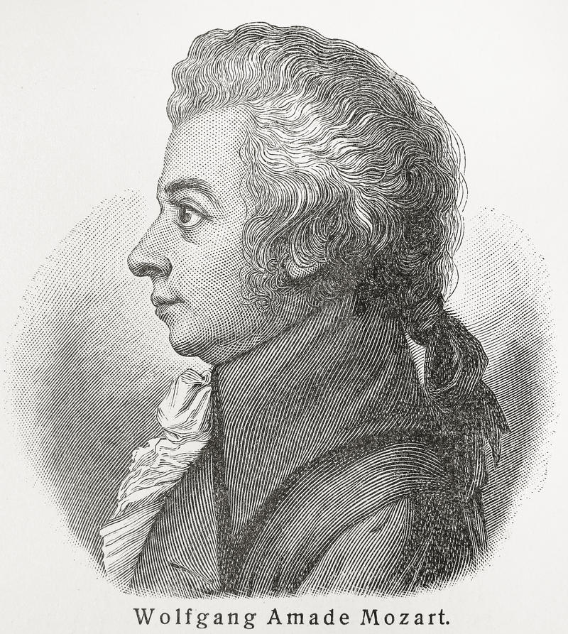 Wolfgang Amadeus Mozart. Baptismal name Johannes Chrysostomus Wolfgangus Theophilus Mozart (1756 - 1791) was a prolific and influential composer of the Classical