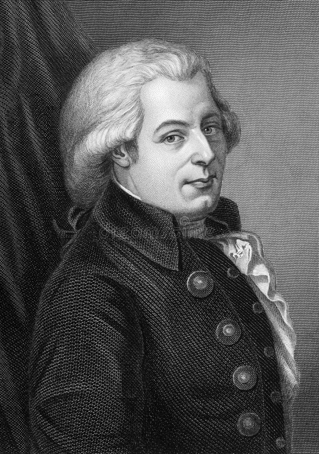 Wolfgang Amadeus Mozart photographie stock libre de droits