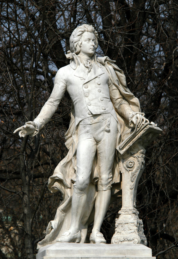 Wolfgang Amadeus Mozart royalty-vrije stock foto