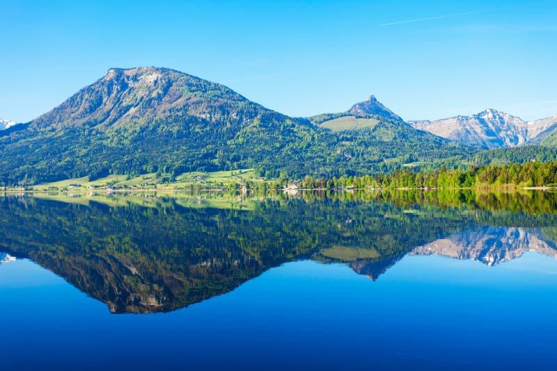 Wolfgangsee湖在奥地利 库存图片