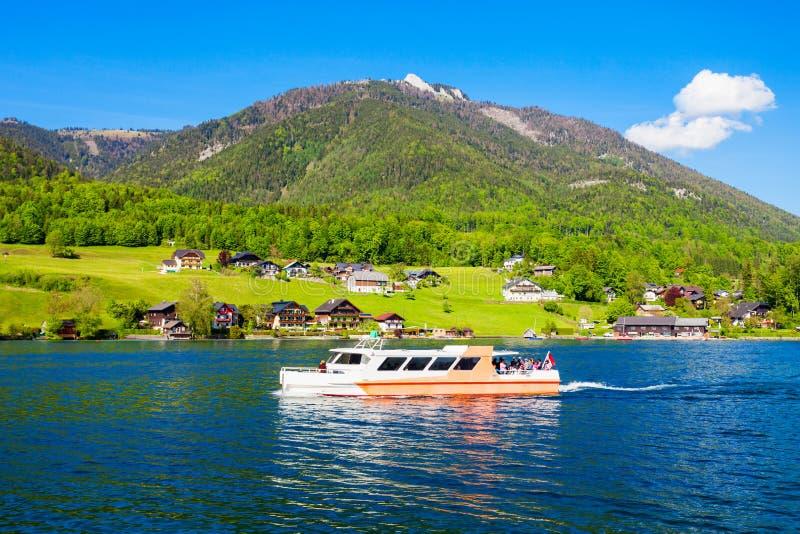 Wolfgangsee湖在奥地利 图库摄影