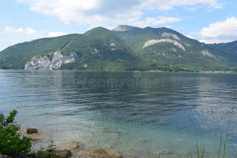 Wolfgangsee. The Lake Wolfgangsee in Austria royalty free stock images