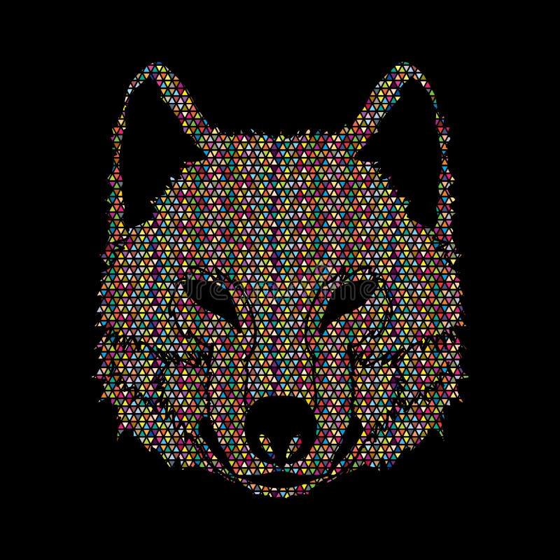 Wolfgesicht lizenzfreie abbildung
