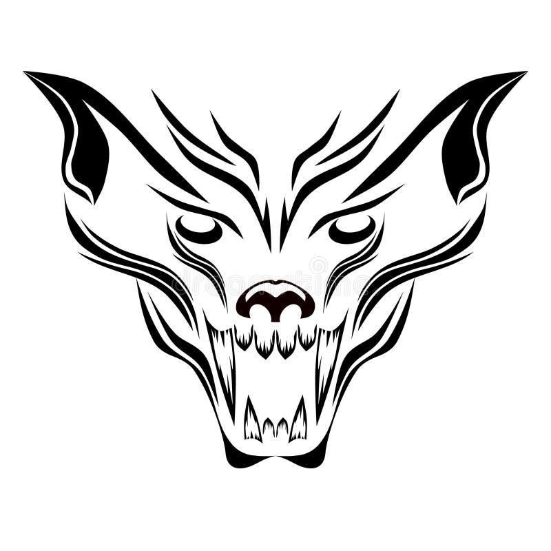 Wolfish grin pattern vector illustration