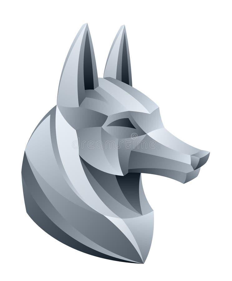 Wolfkopf vektor abbildung