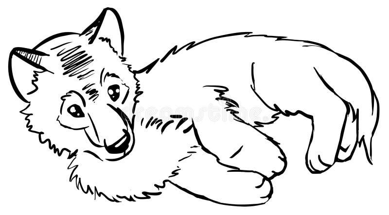 Wolfling illustration de vecteur