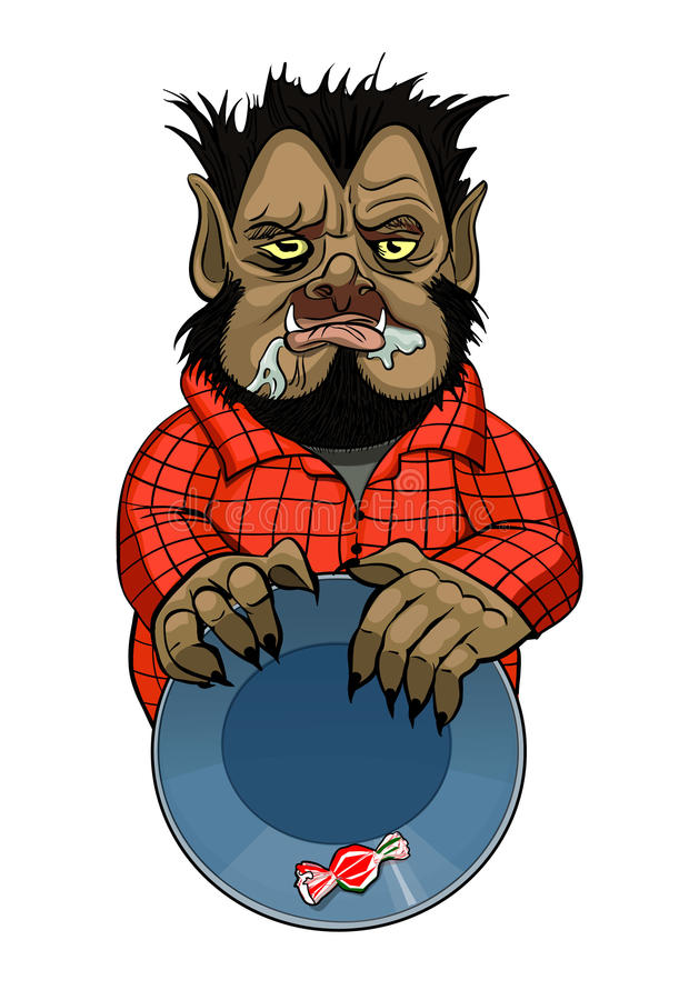 Wolfman illustration stock