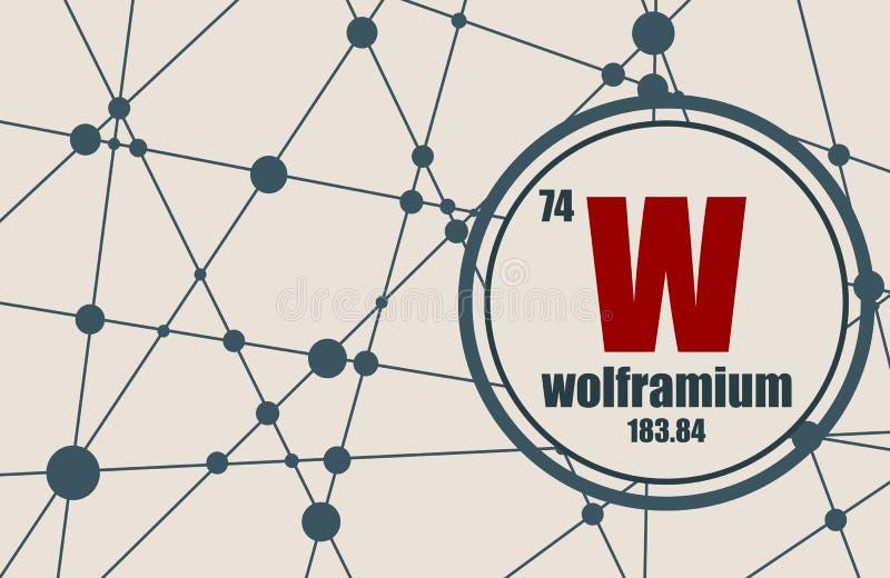 Wolframu chemiczny element ilustracja wektor