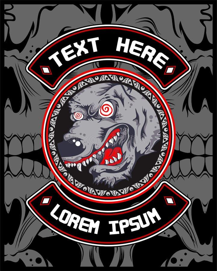 Wolfs gekke vector stock illustratie