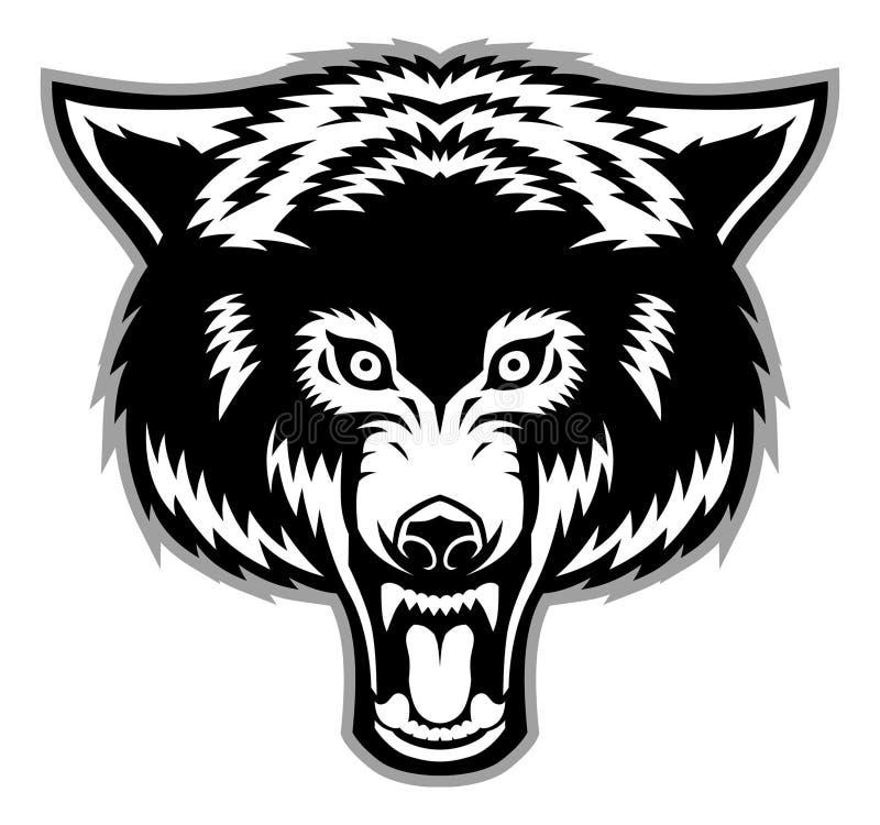 Wolfs hoofdmascotte vector illustratie