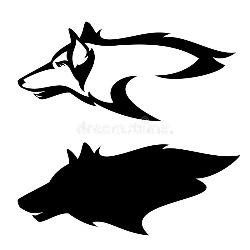 Wolfs hoofdprofiel royalty-vrije illustratie