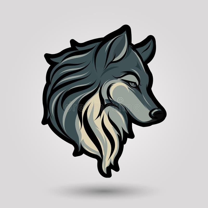 Wolfs hoofdteken stock illustratie