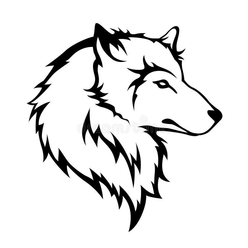 Viking Kleurplaat Wolfs Kopf Vektor Abbildung Illustration Von Furcht