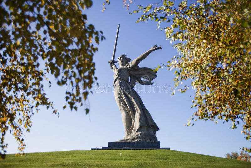 wolgagrad skulptur lizenzfreie stockfotografie