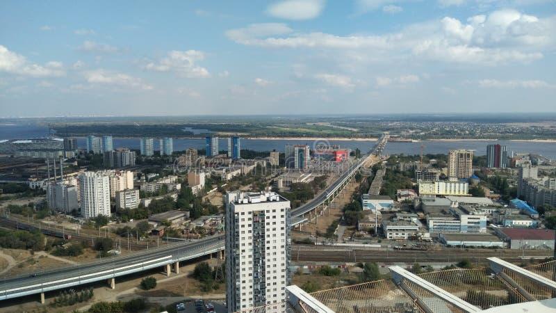 Wolgograd-Stadtansicht stockfotos