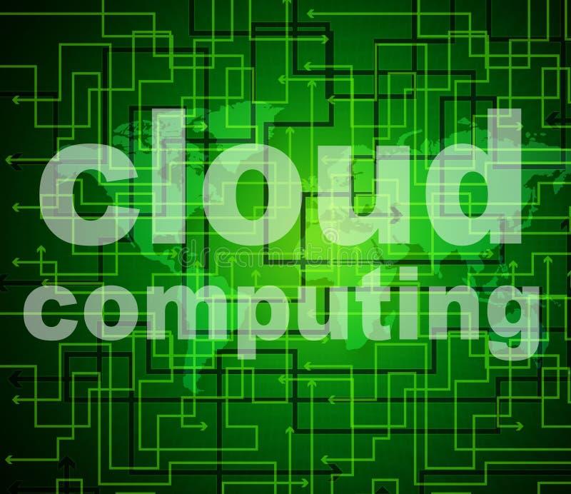 Wolk de Computernetwerk van Gegevensverwerkingsmiddelen en wolk-Gegevens verwerkt stock illustratie