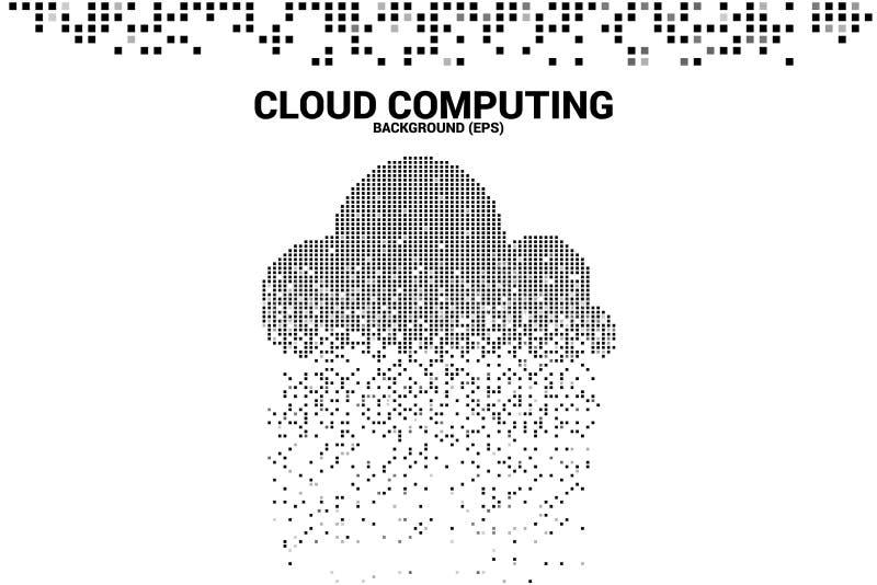 Wolk de transformatie van gegevensverwerkingsgegevens van pixel vector illustratie