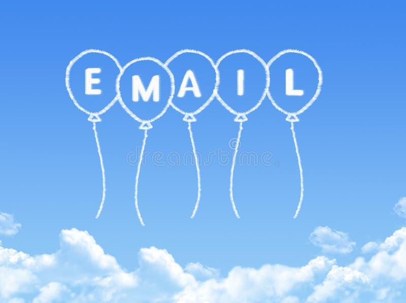 Wolk die als e-mailbericht wordt gevormd royalty-vrije illustratie