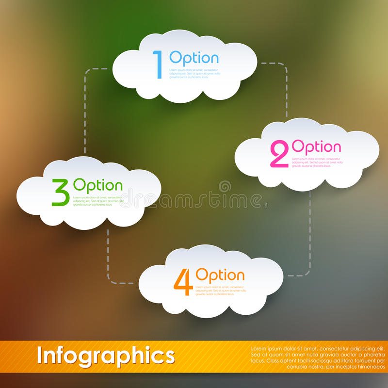 Wolk die Infographics gegevens verwerken vector illustratie