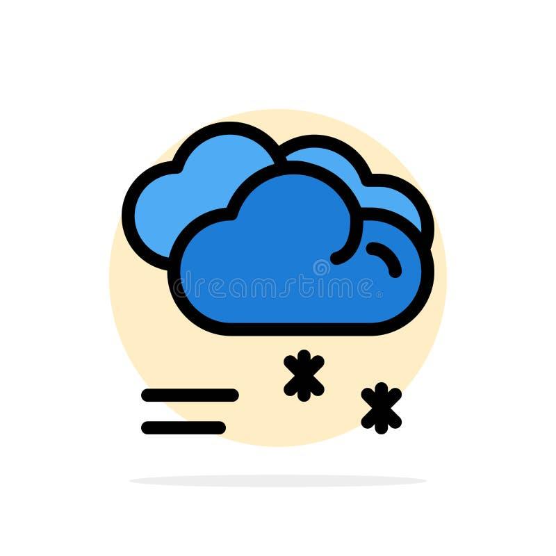 Wolk die, Voorspelling, het Regenen, Regenachtig van de Achtergrond weer Abstract Cirkel Vlak kleurenpictogram regenen stock illustratie