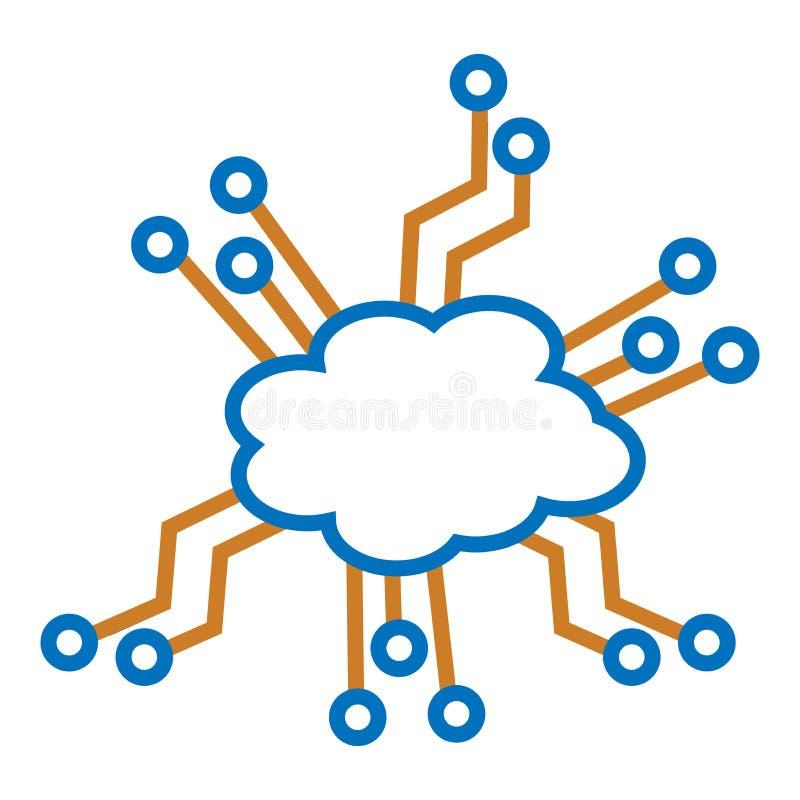 wolk en Elektronische kringen vector illustratie