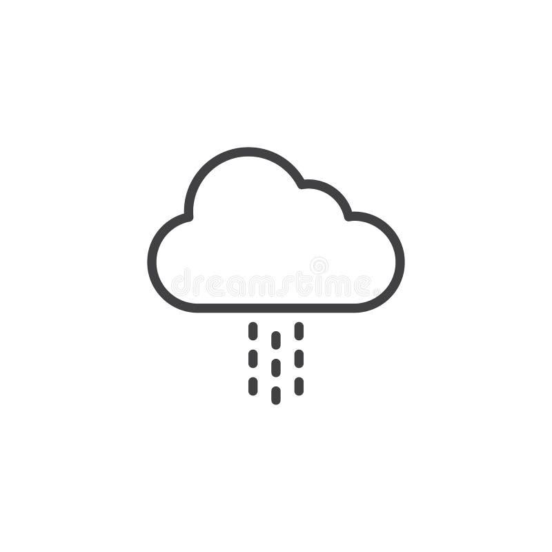 Wolk en regenoverzichtspictogram royalty-vrije illustratie