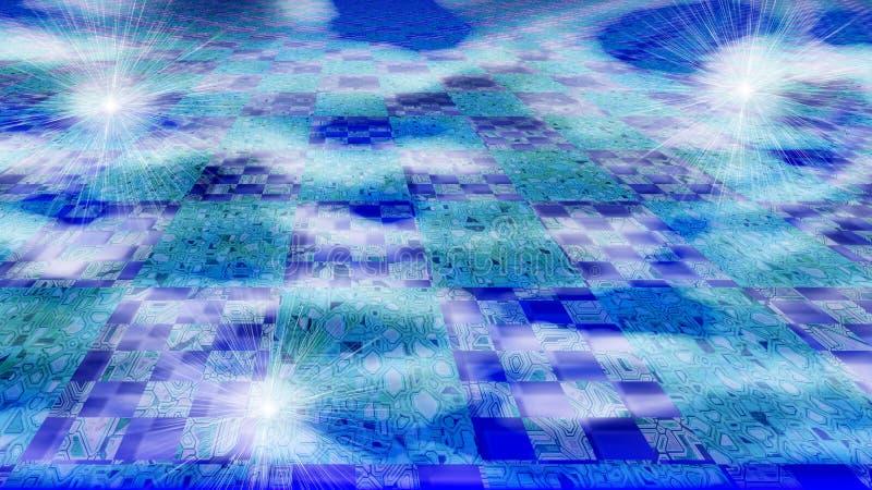 Wolk Gegevensverwerkingsconcept die Kringen over Wolken tonen royalty-vrije illustratie