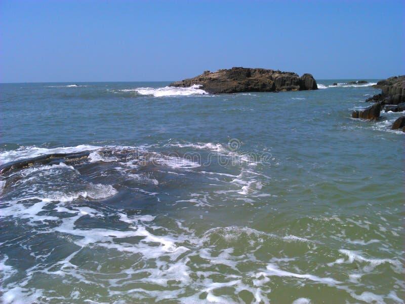 Wolk, golven en wondeer volledig klimaat royalty-vrije stock foto's